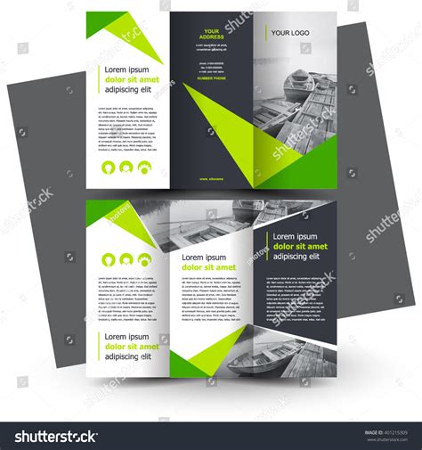 brochure design brochure template creative trifold stock