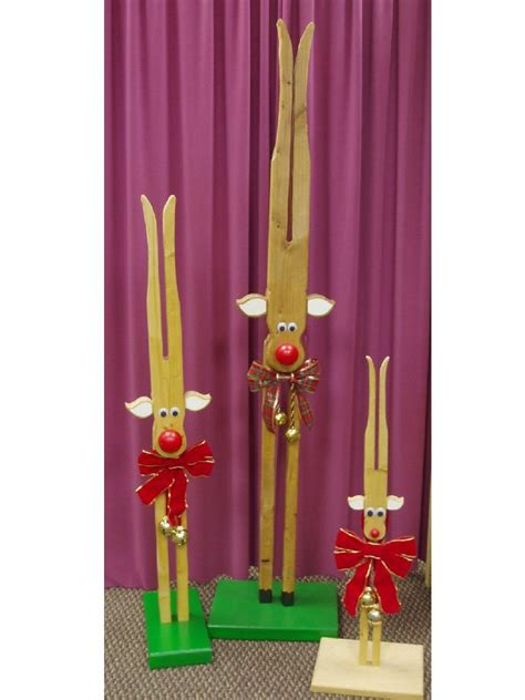 Clothespin Decorations by Clothespin Reindeer Retro Decoration