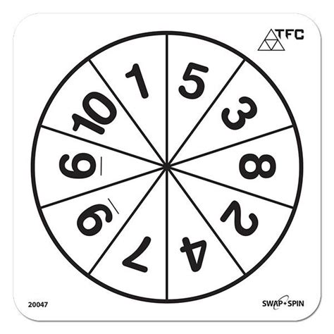 Printable Spinner With Numbers 1 10 | swap spin insert number 1 10 1 piece maths product