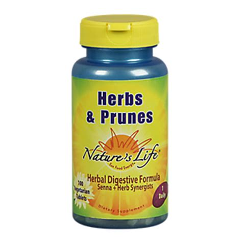 Dates And Prunes Detox by Herbs Prunes 100 Tablets By Natures At The