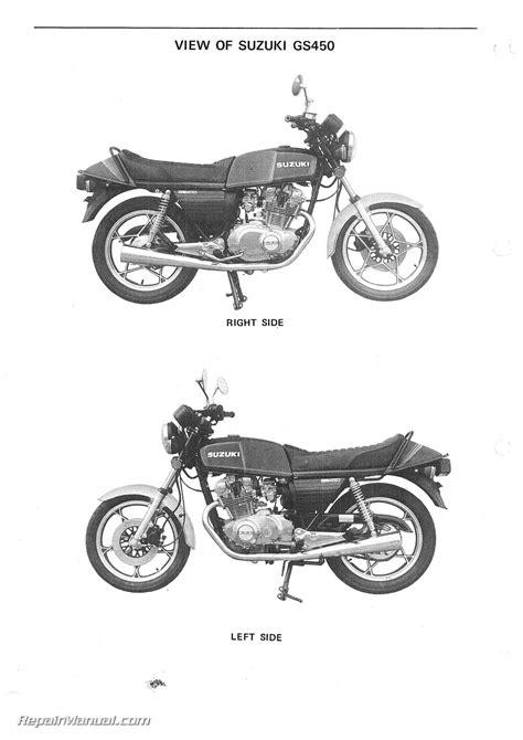 Suzuki Motorcycle Service 1979 1988 Suzuki Gs450 Motorcycle Service Manual
