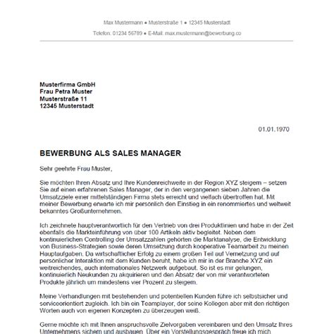 Anschreiben Muster Modebranche Bewerbung Als Sales Manager Sales Managerin Bewerbung Co