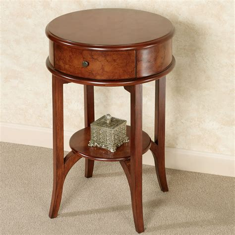 cherry accent table ciliegia natural cherry round accent table