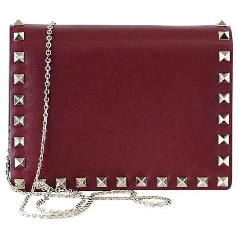 Bag Valentino Selempang Stud 2962 valentino garavani bag mini rock stud clutch cross wallet on a chain for sale at 1stdibs