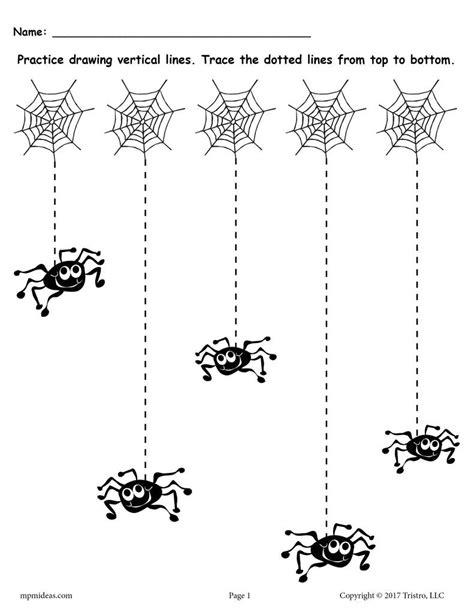 printable tracing lines free printable halloween line tracing worksheets supplyme