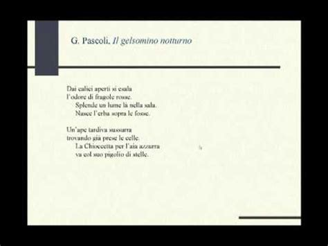 notturno testo pascoli quot il gelsomino notturno quot