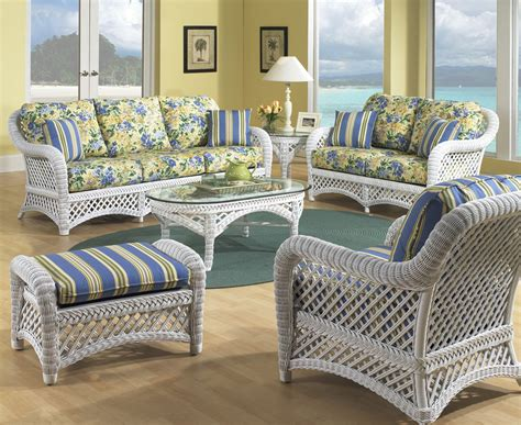 Wicker Sunroom Furniture Sets white wicker furniture set of 5 lanai
