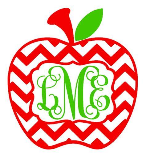 Iron On Monogram Initials Diy Iron On Chevron Apple Monogram Personalized T Shirt Teacher Gift Applique Monograms