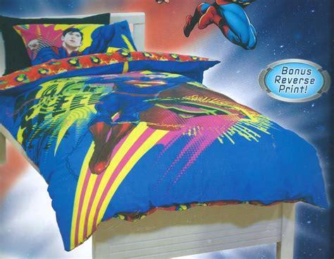 Superman Quilt Cover by Superman Bed Quilt Doona Duvet Cover Set Ebay