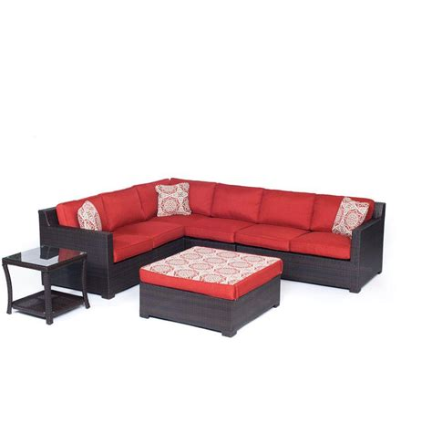 all weather wicker deep seating cushion outdoor recliner hanover ventura 4 piece all weather wicker patio seating