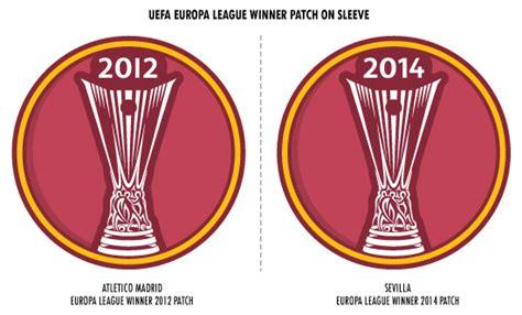 Europa League Dan Respect 2012 2015 football teams shirt and kits fan europa league winners patch