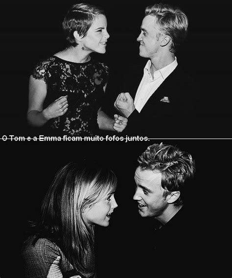 emma watson i tom felton film dramione loveteam emma watson and tom felton