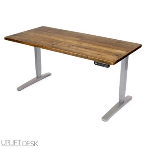 Reclaimed Wood Sit Stand Desk by Shop Uplift Reclaimed Wood Stand Up Desks