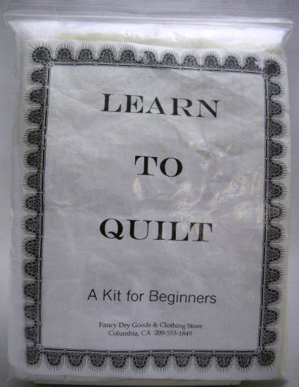Learn To Quilt Kit by Learn To Quilt Kit From Fancy Goods Clothing Store