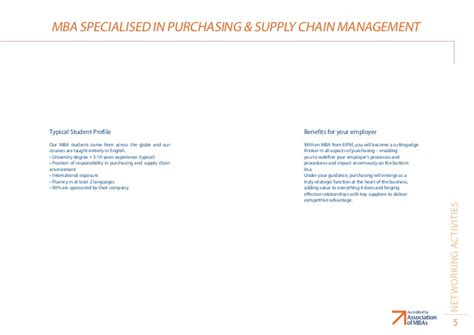 Mba In Procurement Management by Eipm Mba On Purchasing Management