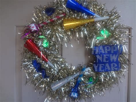 new year wreath the busy broad new years wreath