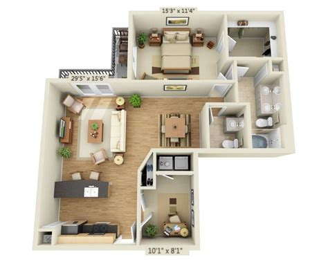1 bedroom plano apartments rooms