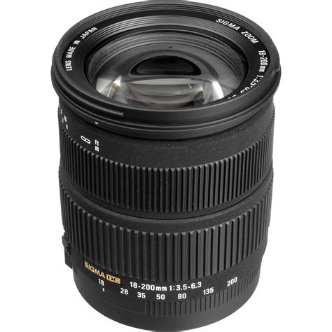 Sigma 18 200mm Canon Sigma 18 200mm F 3 5 6 3 Dc Os Lens For Canon Digital Eos B H