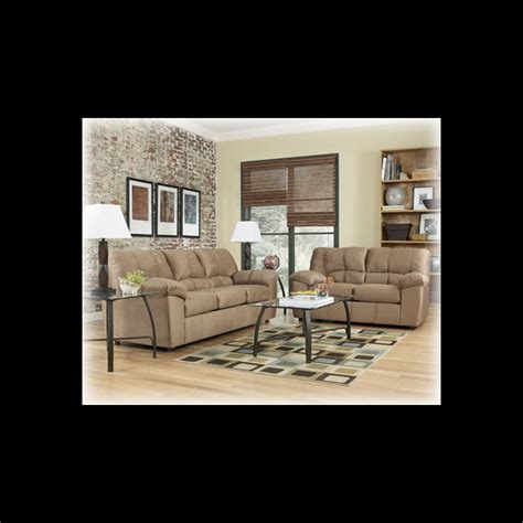 living room packages ashley furniture dominator mocha living room package