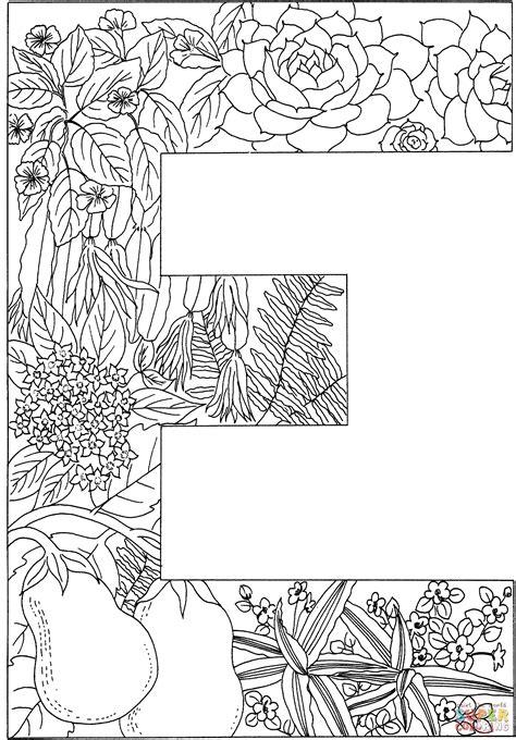 coloring pages for adults letter e ausmalbild der buchstabe e ausmalbilder kostenlos zum