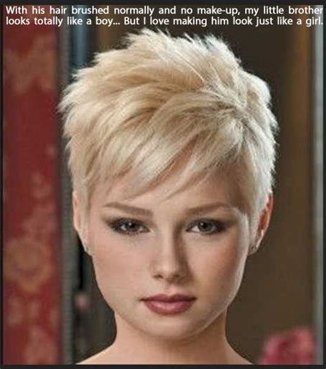 sissy short hair 1000 images about sissy crossdress captions on pinterest