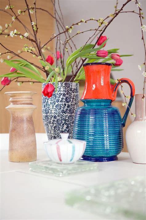 Orange Vases Accessories Vtwonen Accessories Vase Blue Orange Flowers