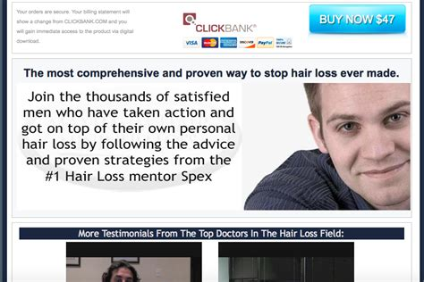 dr blount hairloss fraud hair rejuvenator program ebook scam maximum hair minimum