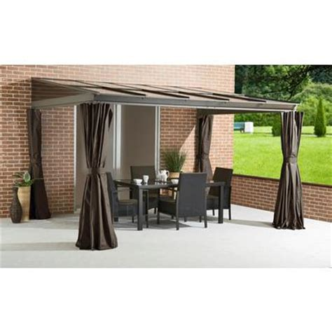 outdoor gazebo curtains home depot sojag inc pompano hard top sun shelter polycarbonate roof