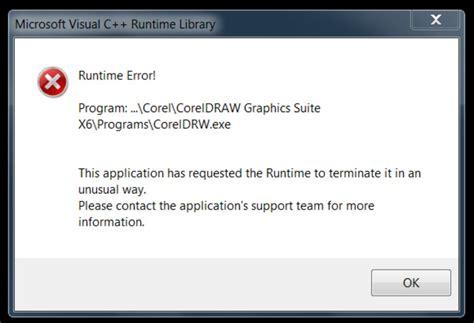 coreldraw runtime error coreldraw graphics suite x6 runtime error when closing cdgs x6 coreldraw graphics