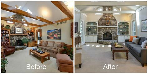 before and after home interior design louisville ky staging services home or