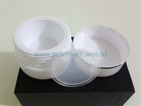 Pot Wadah Kosmetik Jar 10ml Hitam Putih jual pot mini jar lokal pot 12 5 gram