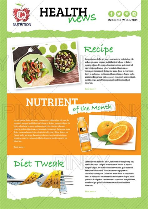 health and wellness newsletter template 29 best newsletters images on free stencils