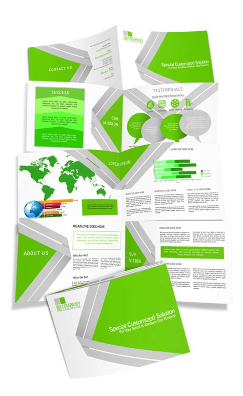 8 page a5 horizontal brochure mockup cover actions