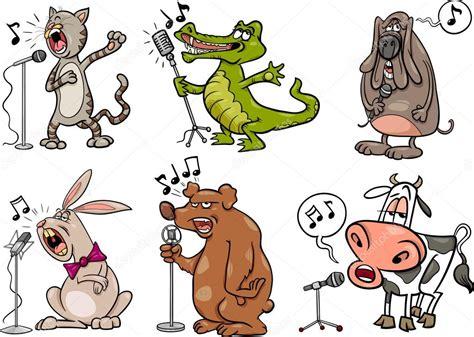 Mx Set Miuta Cat animales cantando conjunto de dibujos animados ilustraci 243 n