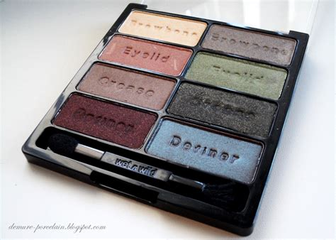 wet n wild comfort zone palette swatches demure porcelain review swatches wet n wild