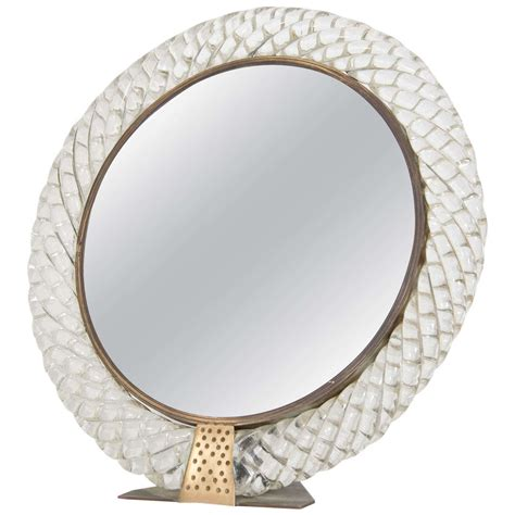 Table Top Mirrors by A Mid Century Venini Vanity Or Table Top Mirror At 1stdibs