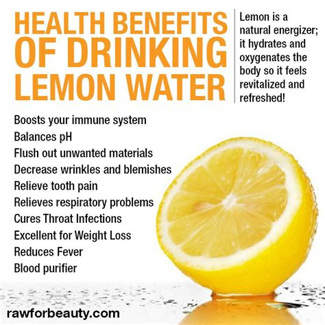 Detox For Health by Lemon Juice And Water Detox Food Smart