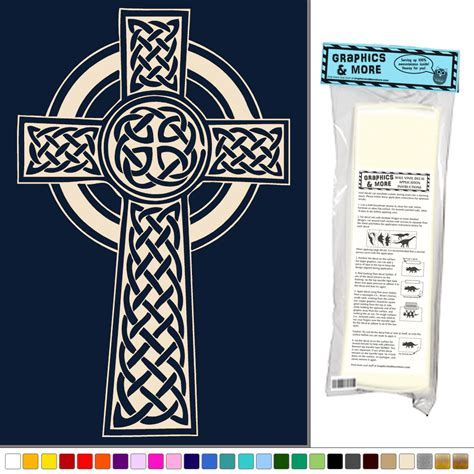 Celtic Wall Decor by Celtic Cross Knotted Vinyl Sticker Decal Wall Decor
