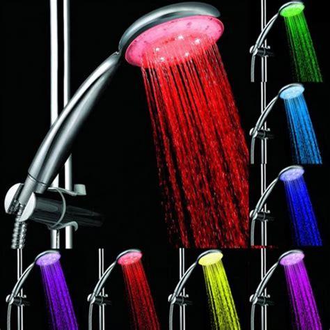 Led Color Changing Shower led color changing shower sprayer for bathroom silver