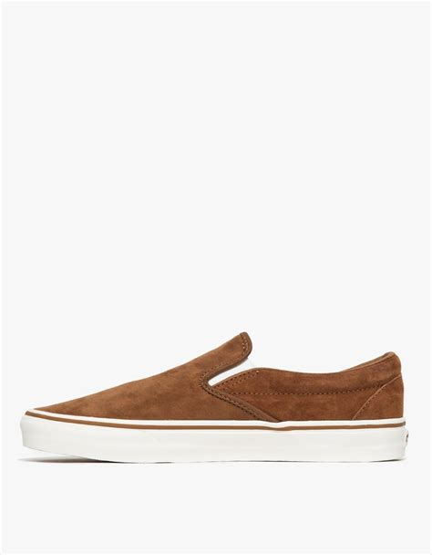 Nike Smith Suede Slip On Abu lyst vans classic slip on suede in brown for
