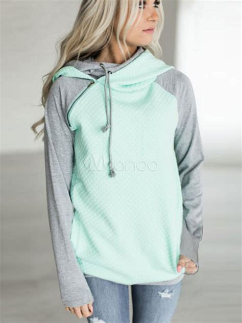 Two Tone Pullover Hoodie Blue Xl pullover hoodie sleeve light blue two tone