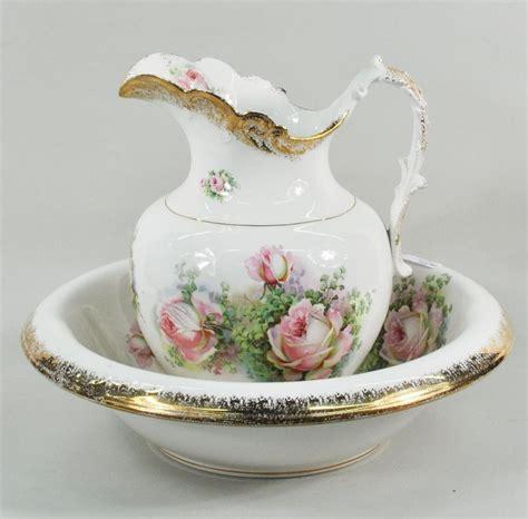 bathroom jug and bowl set victorian porcelain pitcher wash basin victorian wash