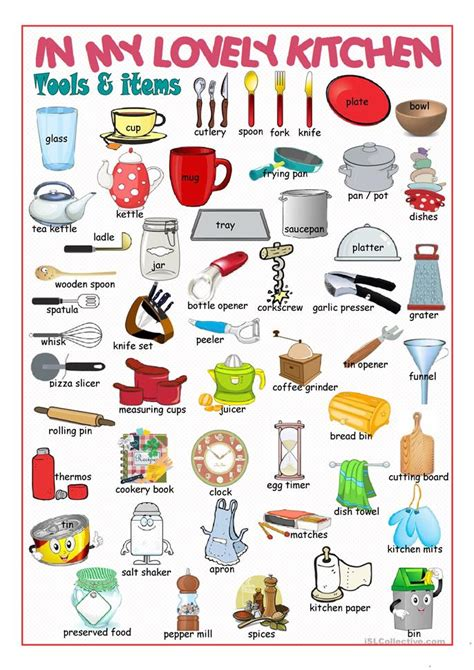 kitchen picture dictionary 2 worksheet free esl - Dictionary Kitchen