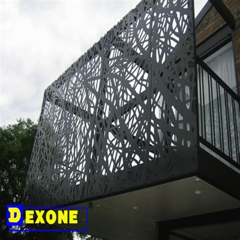 Air Conditioner Curtain Aluminum Perforated Decorative Carved Panels For