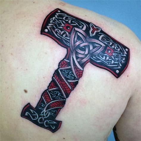 mjolnir tattoo 70 mjolnir designs for hammer of thor ideas
