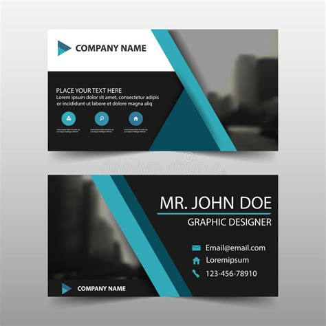 name card design template vector blue triangle corporate business card name card template