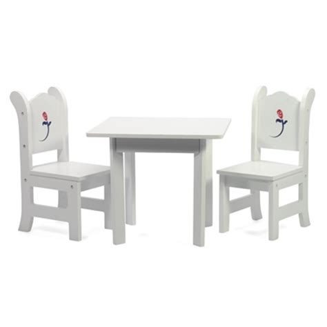 18 Inch Doll Table And Chairs by 18 Inch Doll Furniture White Table With Chairs And