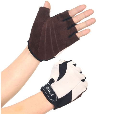 Sarung Tangan Fitness Gloves sport exercise bike half finger gloves sarung tangan pelindung black jakartanotebook