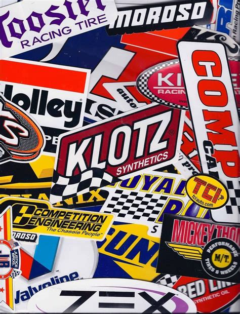 Racing Aufkleber by Racing Decals Sticker Set 25 Grab Bag New Tool Box Garage