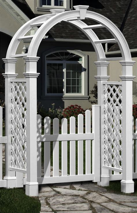 Garden Arbor With Gate For Sale Nantucket Vinyl Arbor With Gate
